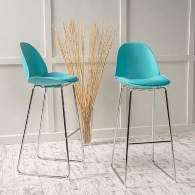 Courtdale 32.35 Bar Stool Seat Color: Light Blue