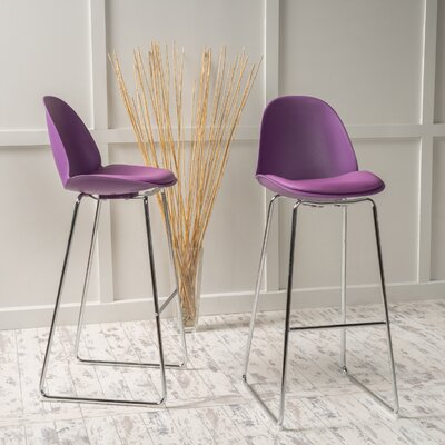 Courtdale 32.35 Bar Stool Seat Color: Purple
