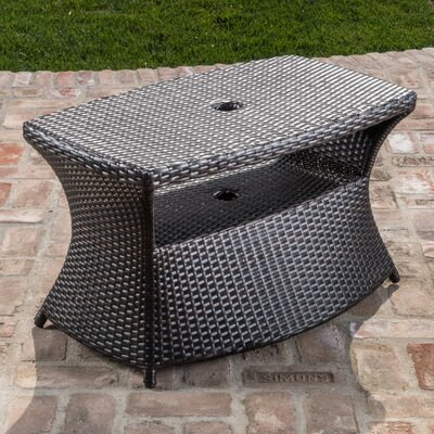 Armenta Outdoor Side Table Finish: Brown