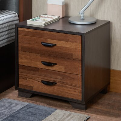 Bair 3 Drawer Nightstand Finish: Walnut