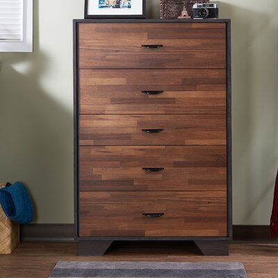 Bair 5 Drawer Chest Color: Walnut
