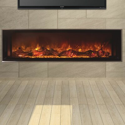 Odessa Landscape Full View Series Wall Mount Electric Fireplace Size: 22.5