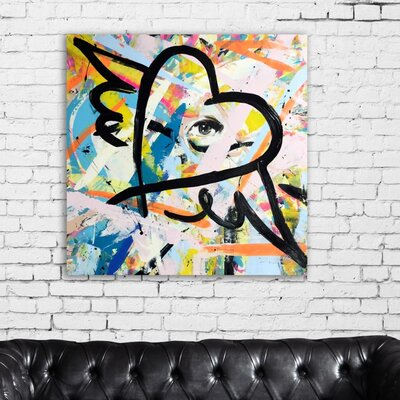 'Exhale' Painting Print on Canvas Size: 12'' H x 12'' W x 1.5'' D