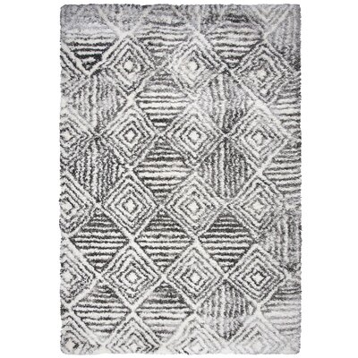 Cottone Charcoal Shag Area Rug Rug Size: Rectangle 710 x 106