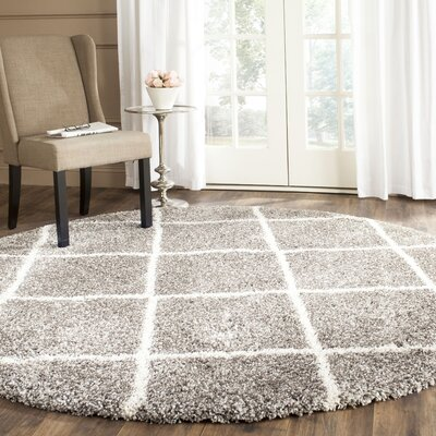 Duhon Gray Area Rug Rug Size: Rectangle 9 x 12