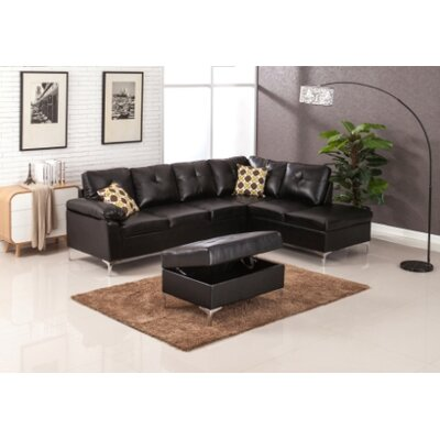 Swiderski Sectional Upholstery: Black