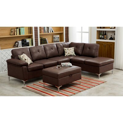 Swiderski Sectional Upholstery: Chocolate
