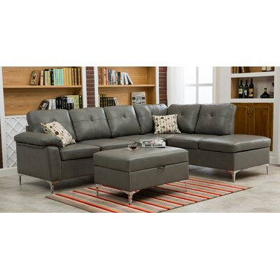 Swiderski Sectional Upholstery: Gray