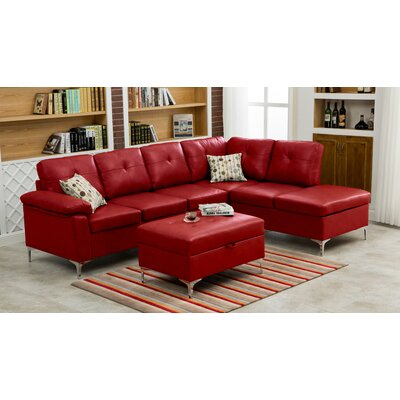 Swiderski Sectional Upholstery: Red