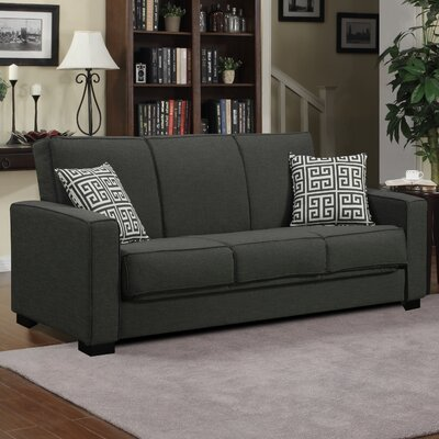 Swiger Convertible Sleeper Sofa Upholstery: Basil Green / Greek Key