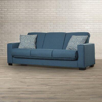 Swiger Convertible Sleeper Sofa Upholstery Color: Blue Linen / Greek Key