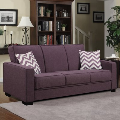 Swiger Convertible Sleeper Sofa Upholstery Color: Purple Linen / Chevron