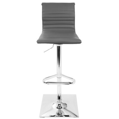 Swihart Adjustable Height Swivel Bar Stool Upholstery: Gray