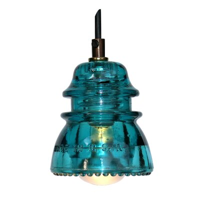 Swint Insulator Light 120V 40W, dimming Finish: Blue/Green