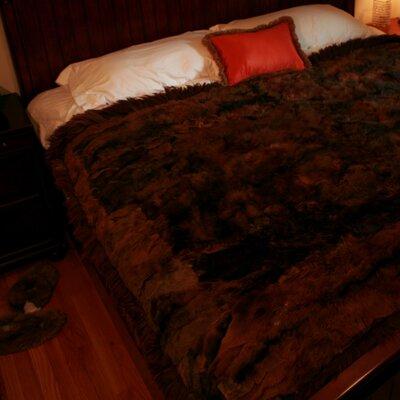 Sydnor Alpaca Fur Blanket Color: Dark  Brown