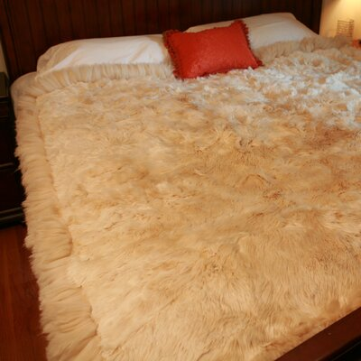 Sydnor Alpaca Fur Blanket Color: Light Brown