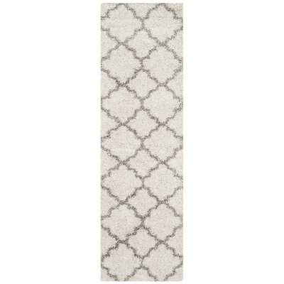 Marco Shag Ivory/Gray Area Rug Rug Size: Runner 23 x 14