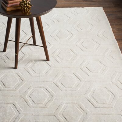Schuykill Hand-Woven Ivory Area Rug Rug Size: Rectangle 76 x 96