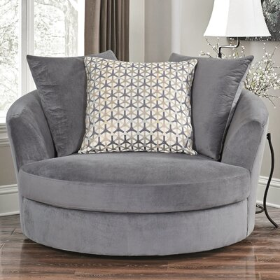 Villela Swivel Barrel Chair