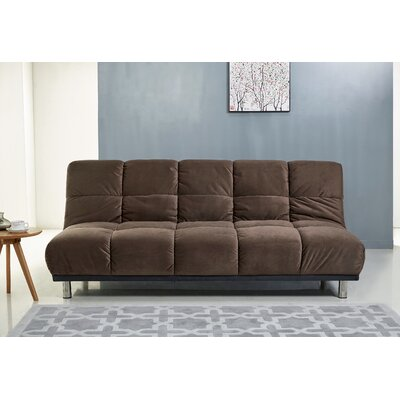 Villeneuve Futon and Mattress Upholstery: Brown