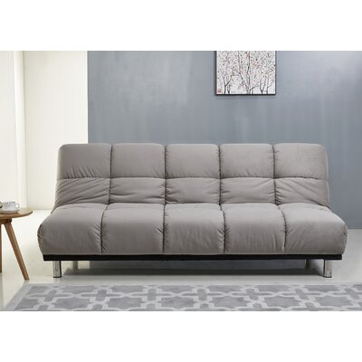 Villeneuve Futon and Mattress Upholstery: Gray