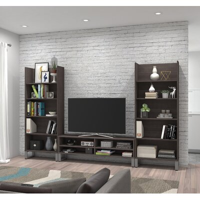Carreno Entertainment Center Finish: Dark Gray