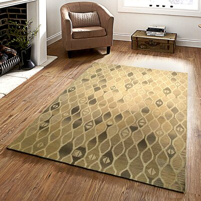 Ostro Hand-crafted Brown Area Rug Rug Size: 79 x 99
