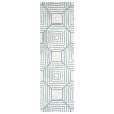 Visser Hand-Tufted Light Gray Area Rug Rug Size: Runner 26 x 10