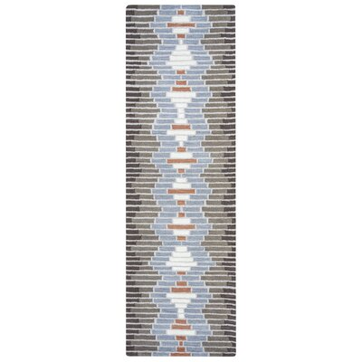 Vitagliano Hand-Tufted Medium Gray Area Rug Rug Size: 9 x 12