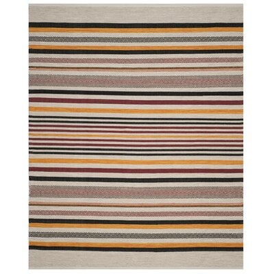 Vasquez Hand-Woven Red/Multi-Colored Area Rug Rug Size: Rectangle 8 x 10