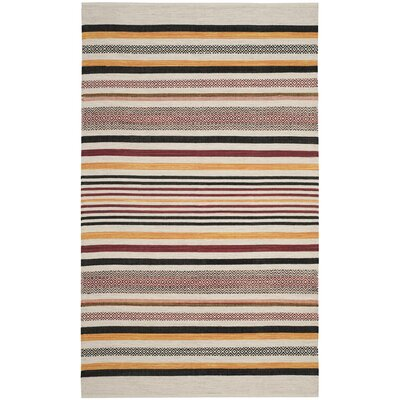 Vasquez Hand-Woven Red/Multi-Colored Area Rug Rug Size: Rectangle 5 x 8