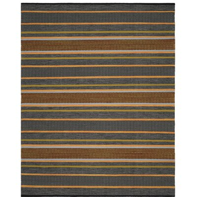 Fitzsimmons Hand-Woven Navy/Multi-Colored Area Rug Rug Size: Rectangle 8 x 10