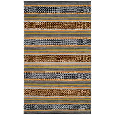 Fitzsimmons Hand-Woven Navy/Multi-Colored Area Rug Rug Size: 5 x 8