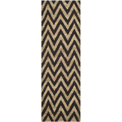 Garman Black/Natural Original Area Rug Rug Size: Runner 26 x 6