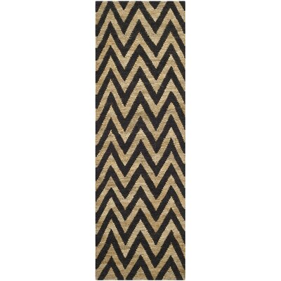 Garman Black/Natural Original Area Rug Rug Size: Runner 26 x 8