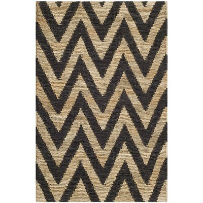 Garman Black/Natural Original Area Rug Rug Size: 26 x 4
