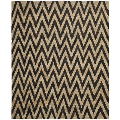 Garman Black/Natural Original Area Rug Rug Size: Rectangle 4 x 6