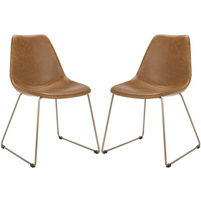 Brownlee Side Chair Upholstery: Light Brown