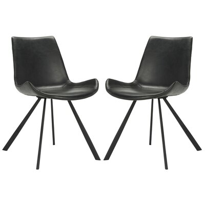 Brownlee Side Chair in Leather - Black