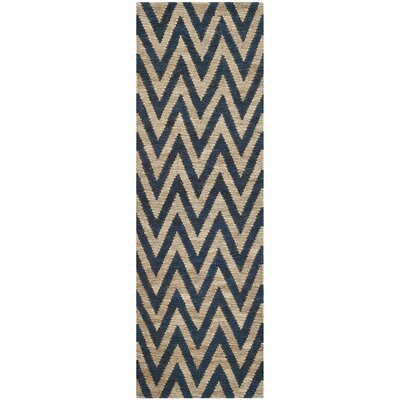 Garman Blue/Natural Original Area Rug Rug Size: Runner 26 x 6
