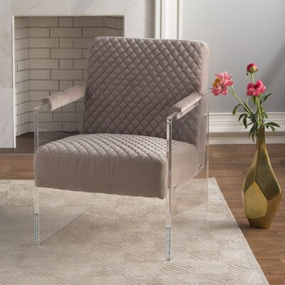 Brisbane Acrylic Armchair Color: Taupe