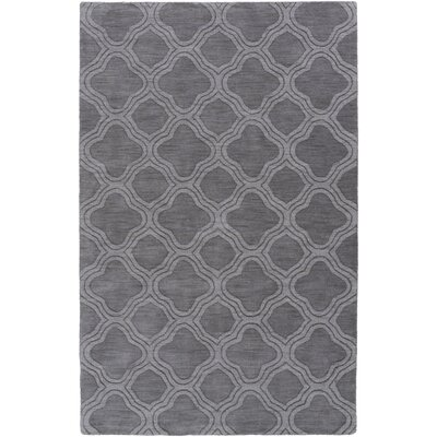 Mcnulty Hand-Loomed Gray Area Rug Rug Size: 5 x 8