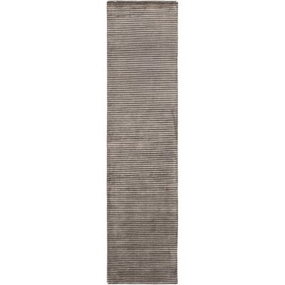 Gilkey Charcoal/Light Gray Area Rug Rug Size: Runner 26 x 10
