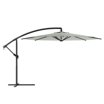 Freda 10 Cantilever Umbrella Fabric: Sand Gray