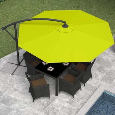Freda 10 Cantilever Umbrella Fabric: Lime Green
