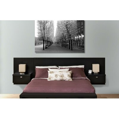 Chon Panel Headboard Size: King, Color: Black
