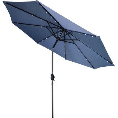 9' Gorman Illuminated Umbrella Fabric: Blue