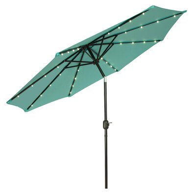 9 Gorman Illuminated Umbrella Fabric: Teal