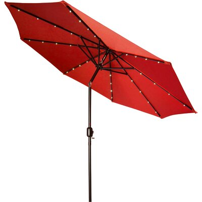 9' Gorman Illuminated Umbrella Fabric: Red