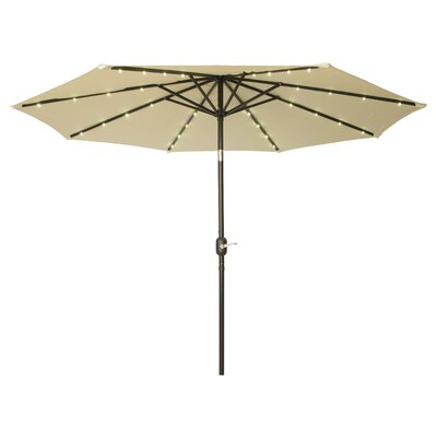9' Gorman Illuminated Umbrella Fabric: Ecru